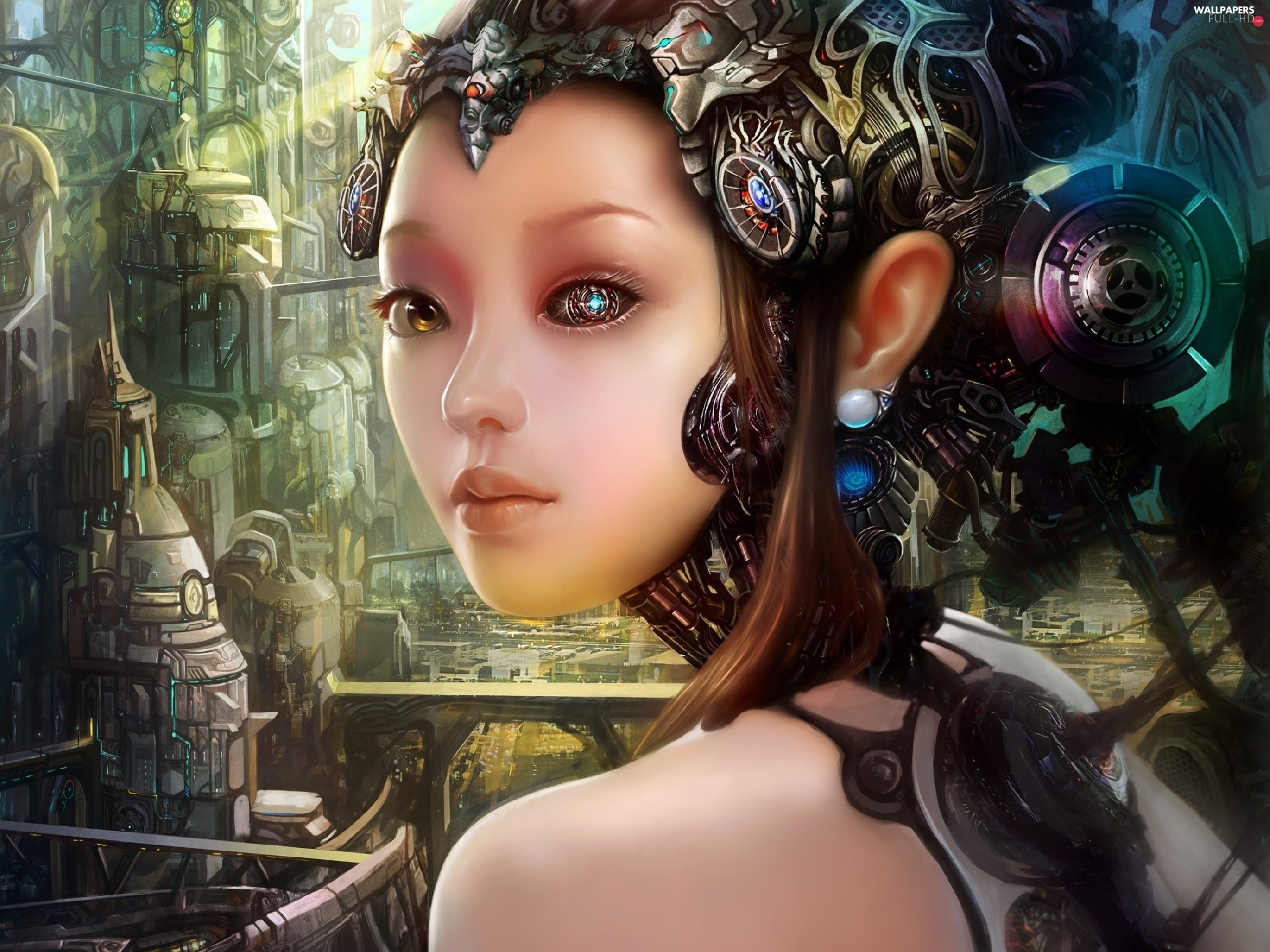 cyborg, The look, girl