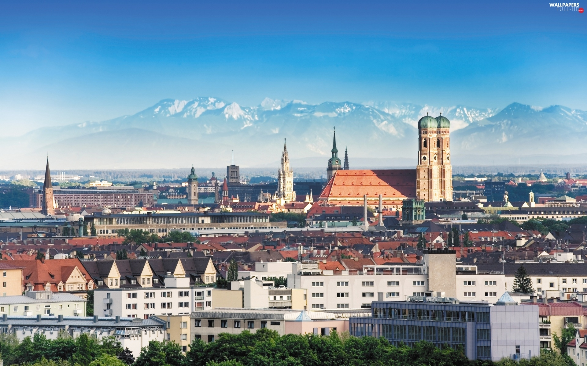 Germany, Munich, panorama, town