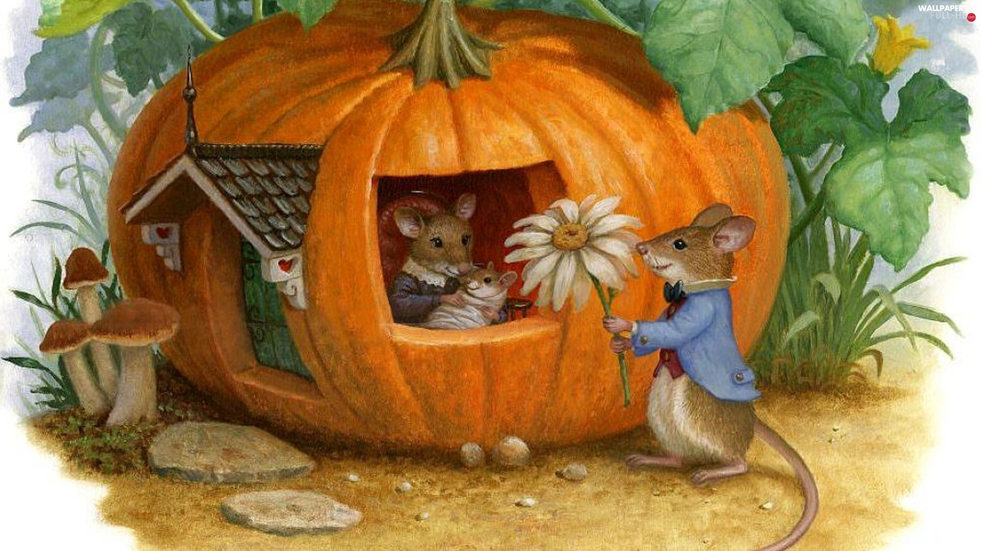 pumpkin, Home, mouse