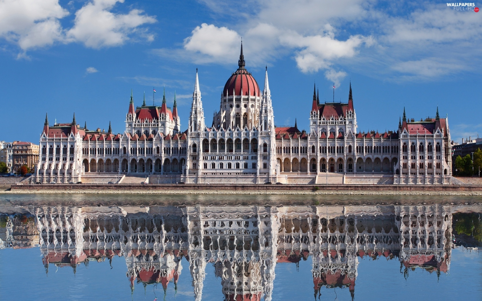 Hungary, reflection, Castle, royal