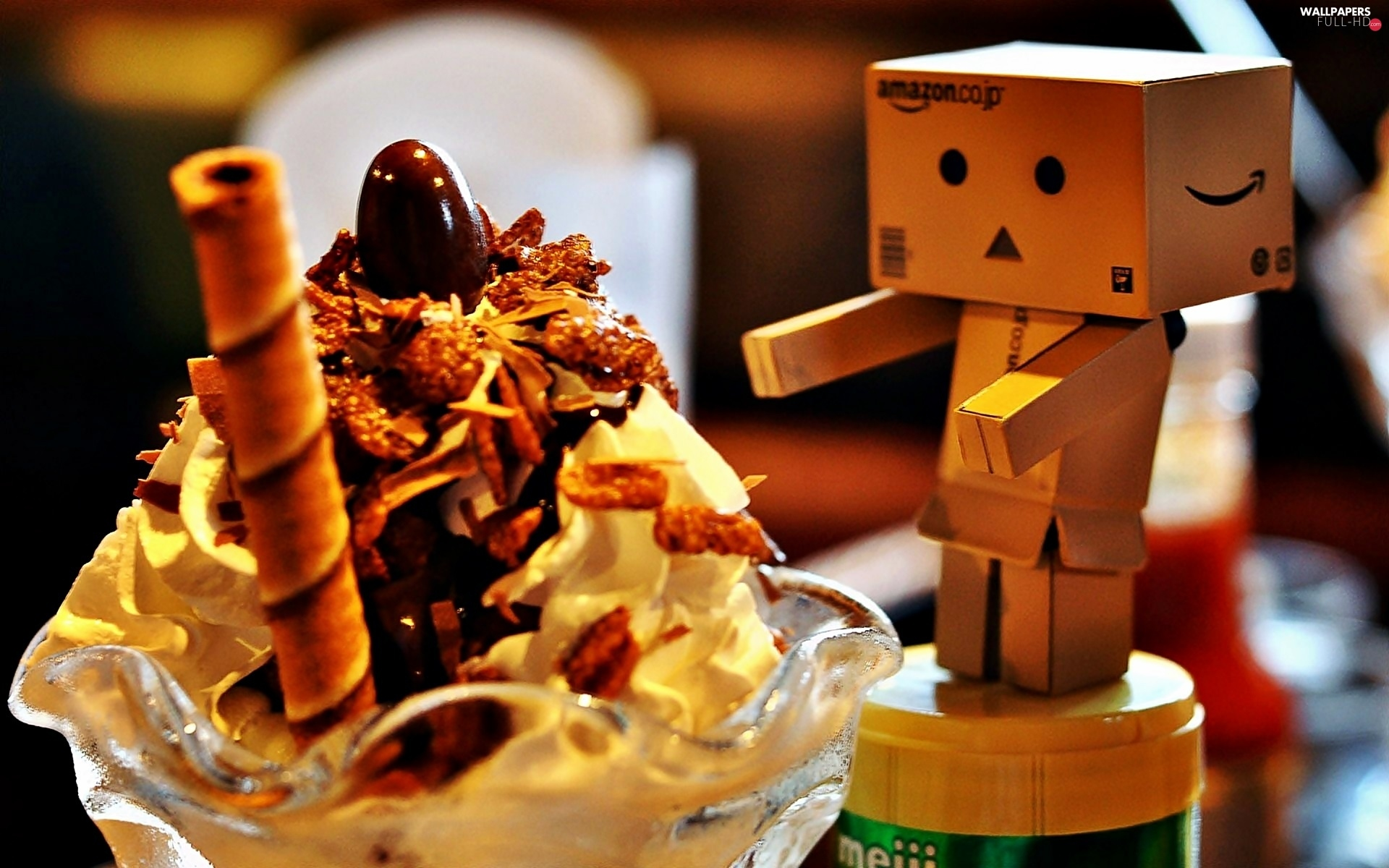 ice cream, blur, Danbo