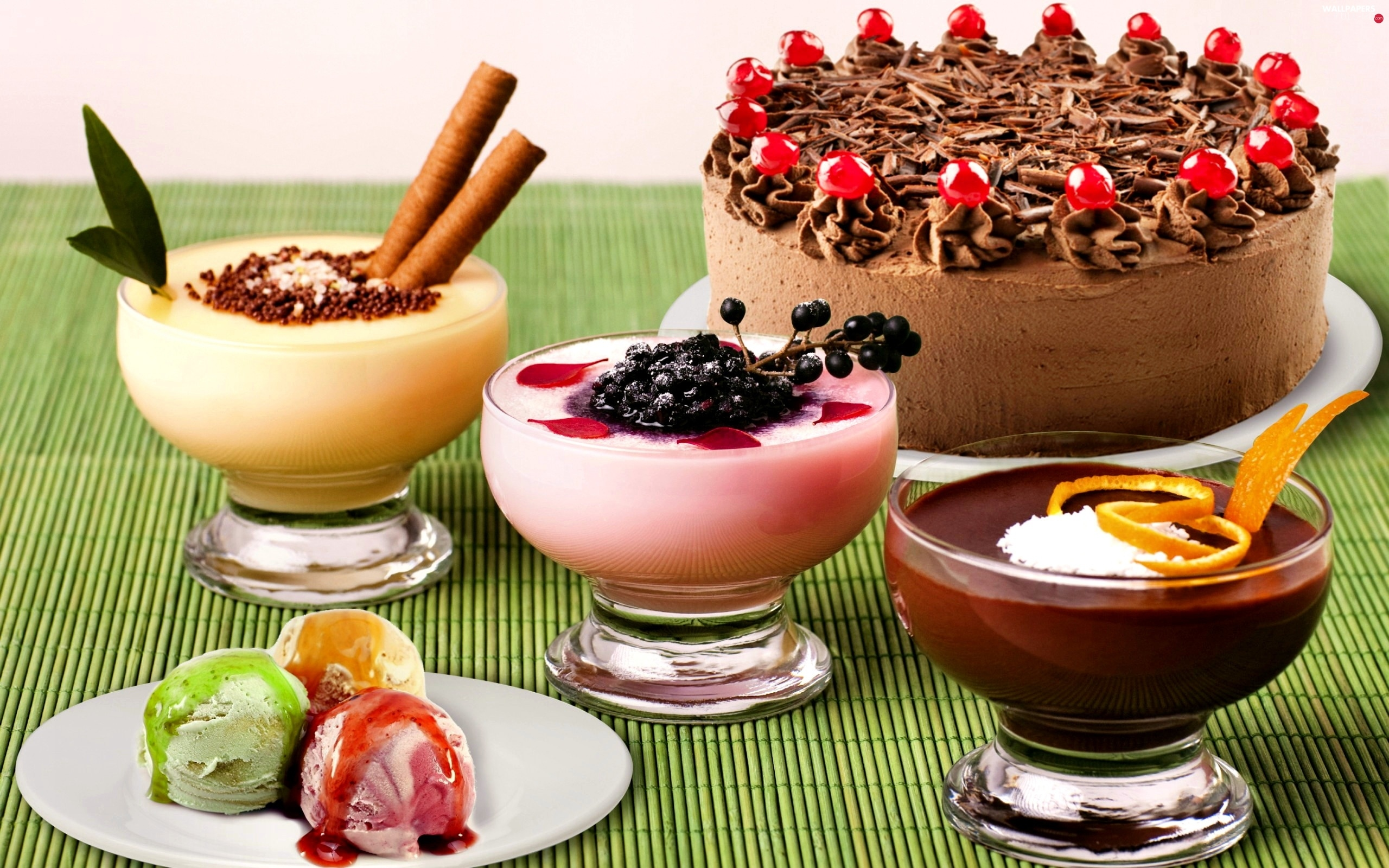 ice cream, desserts, Cake, color