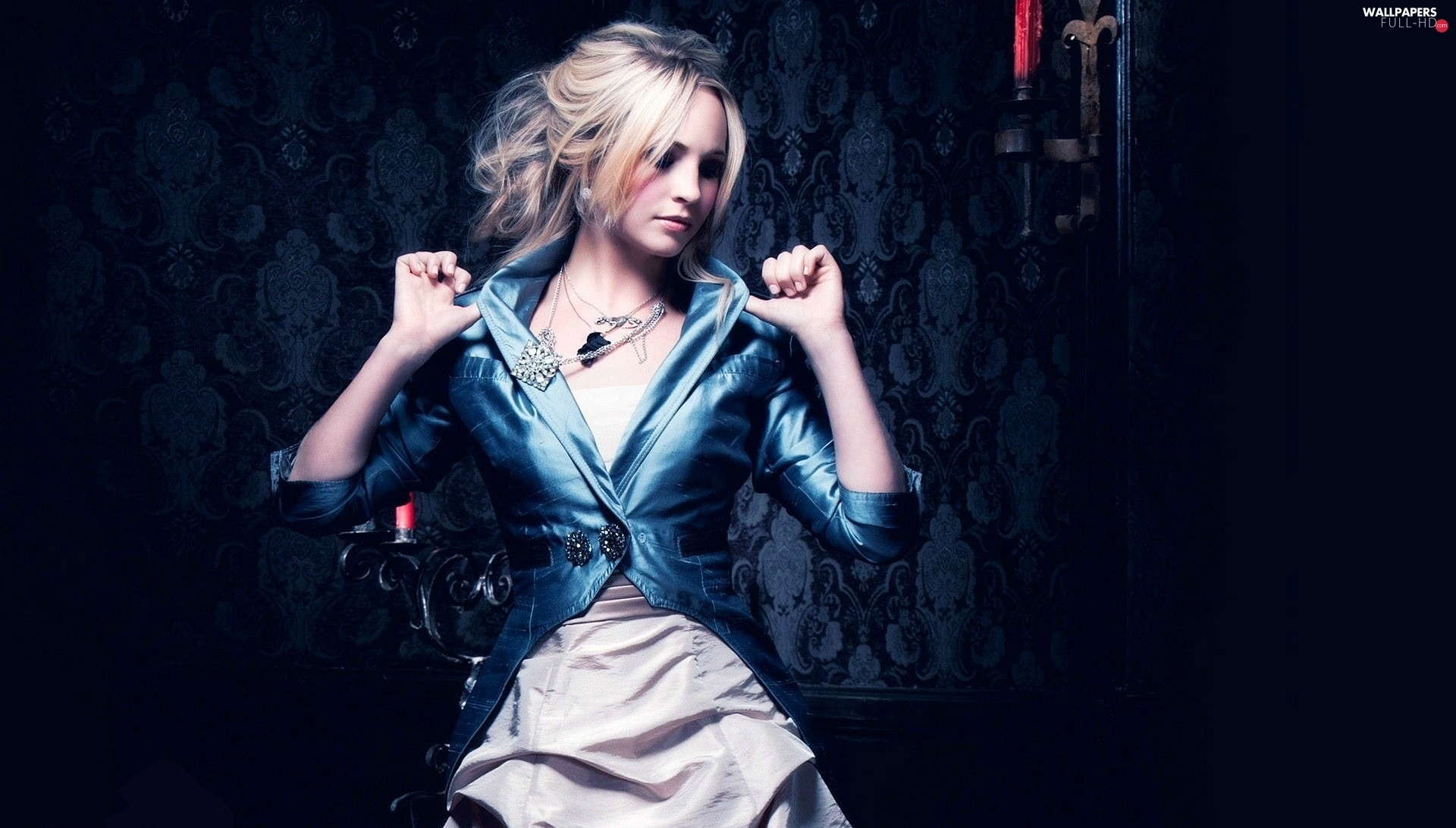 jacket, Dress, Candice Accola, night wear