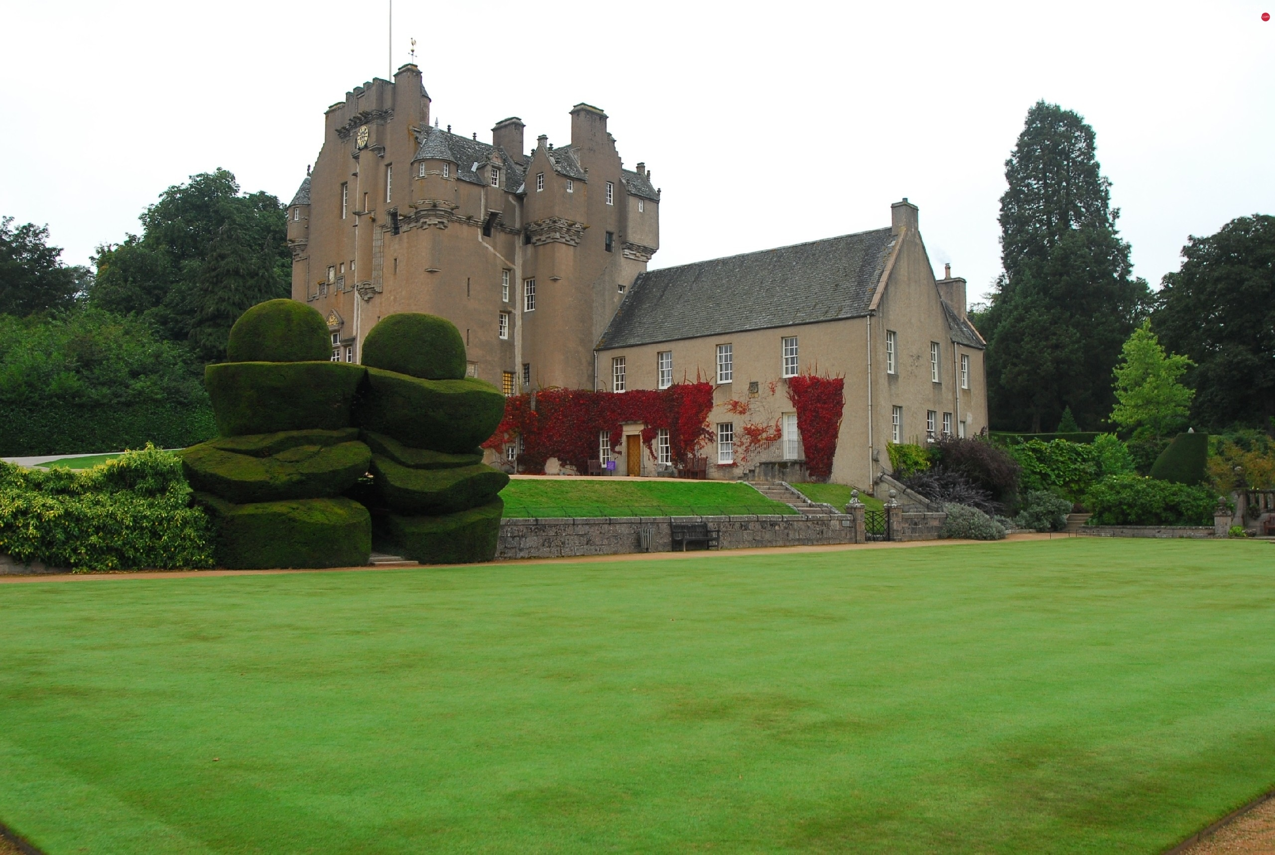Lawn, Scotland, Castle, Crathes