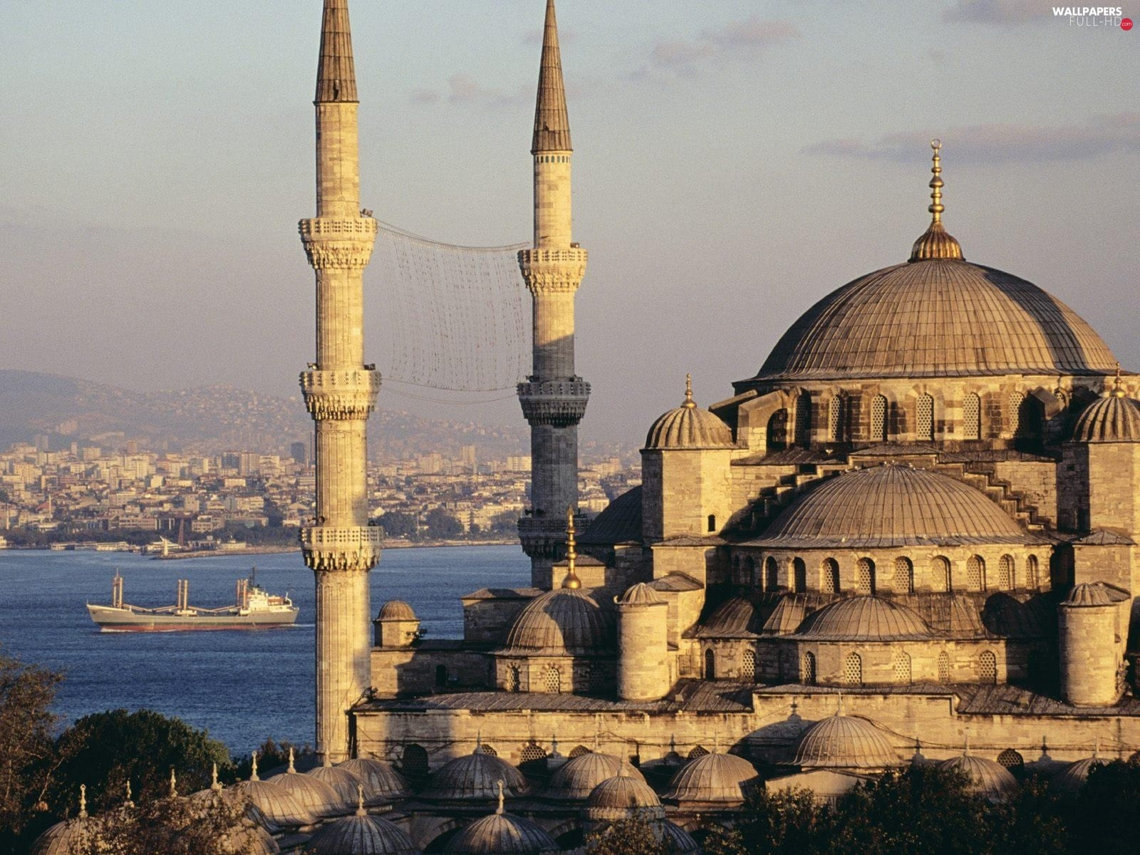 mosque, blue, Turkey, Istanbul