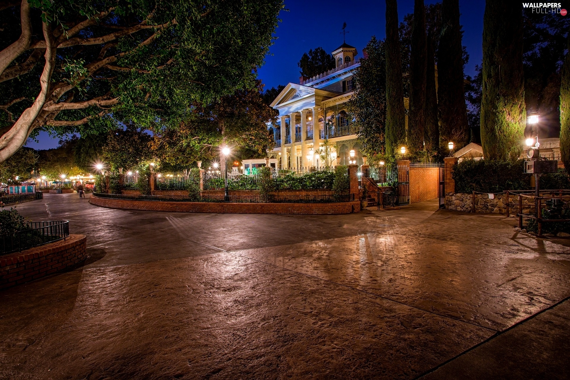HDR, Night, Town, USA, California, Disneyland, Anaheim
