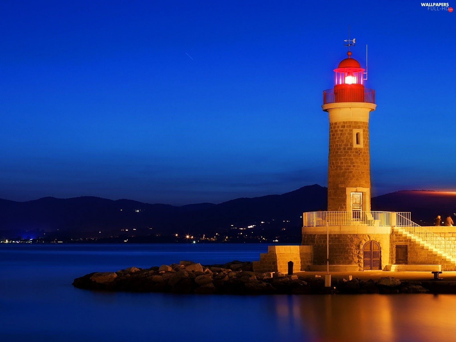 maritime, Night, Lighthouse