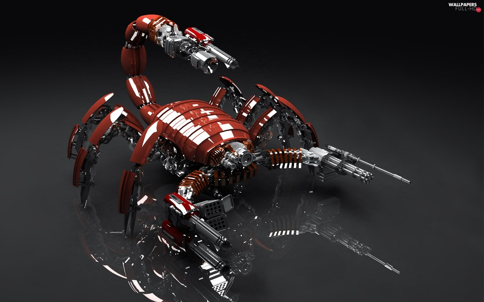 mechanical, Scorpion, Red