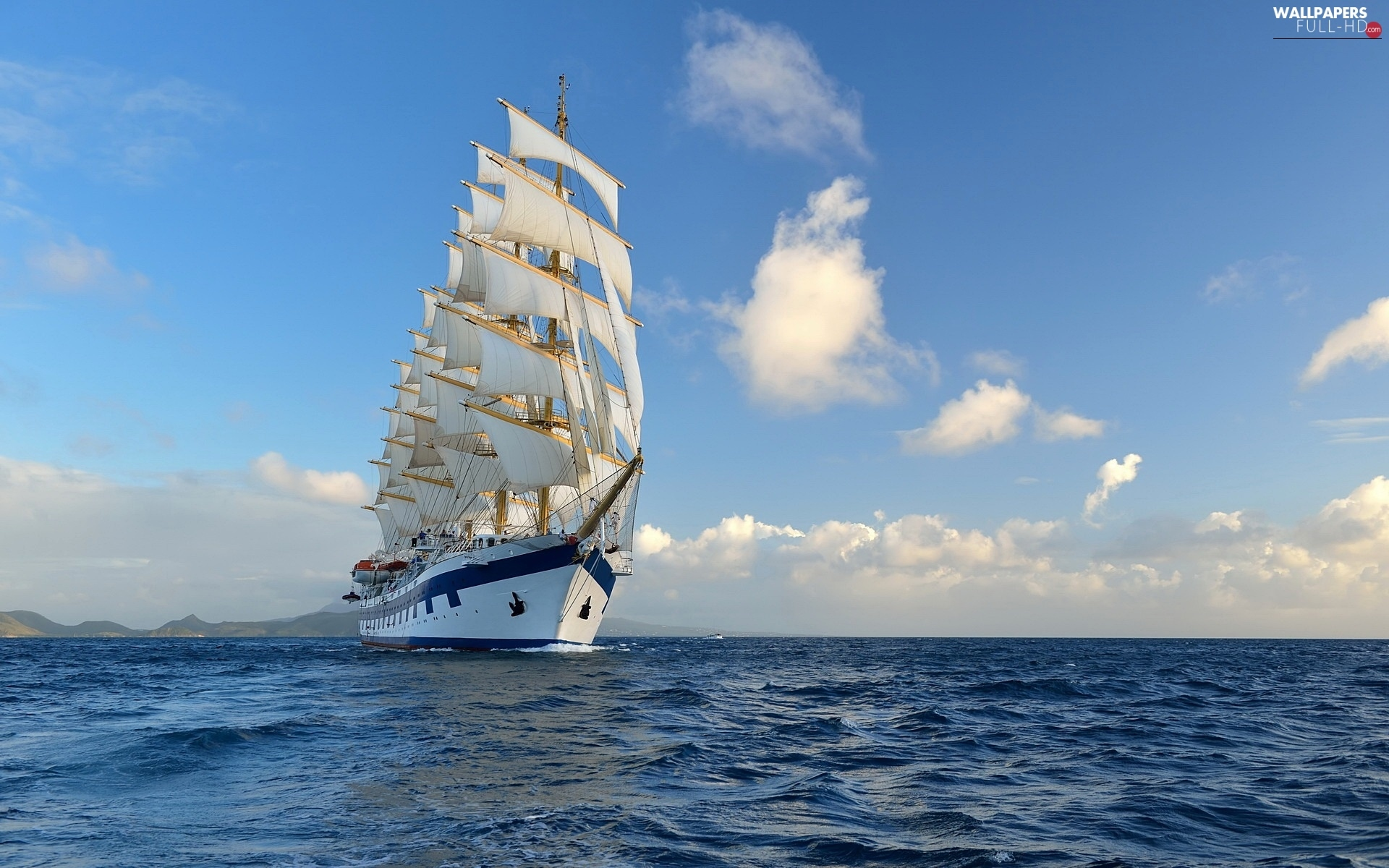 Ship, sailing vessel, sea