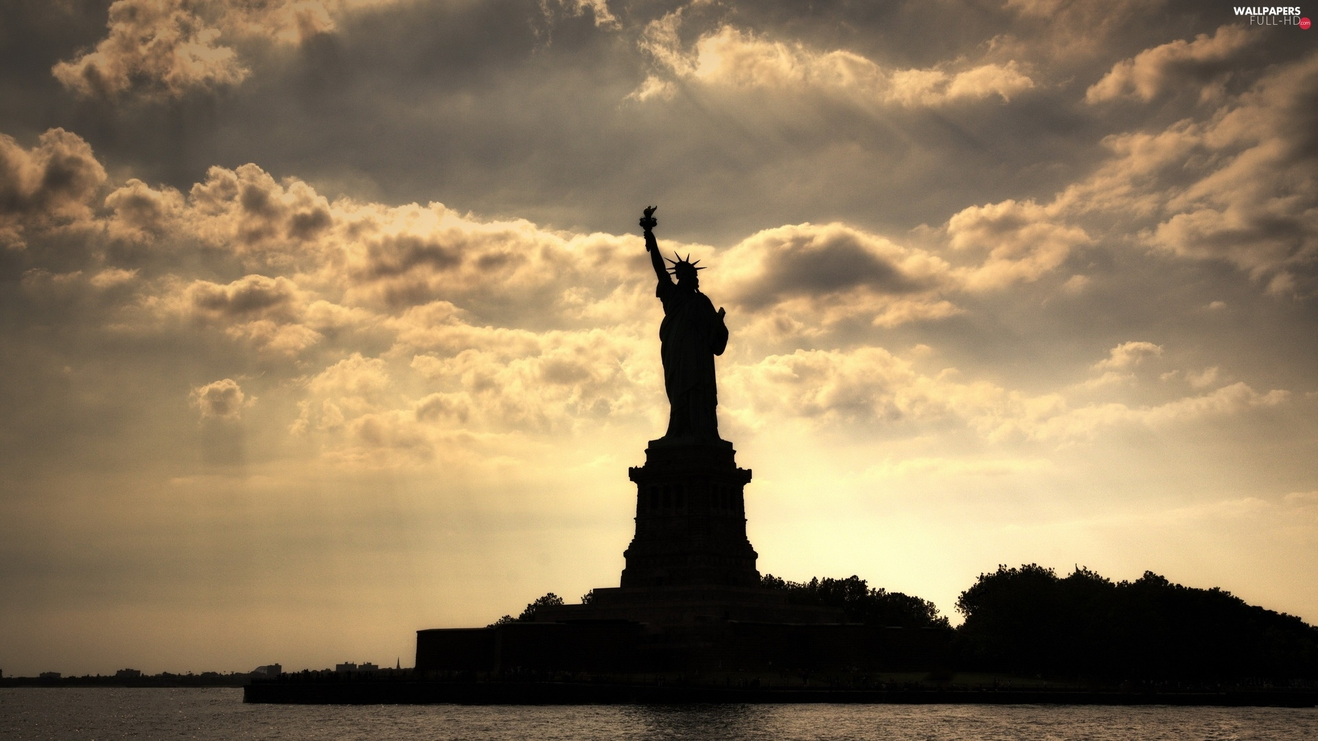 Sky, Statue of Liberty