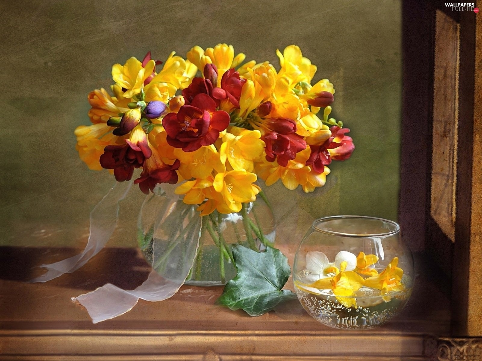 freesia, small bunch
