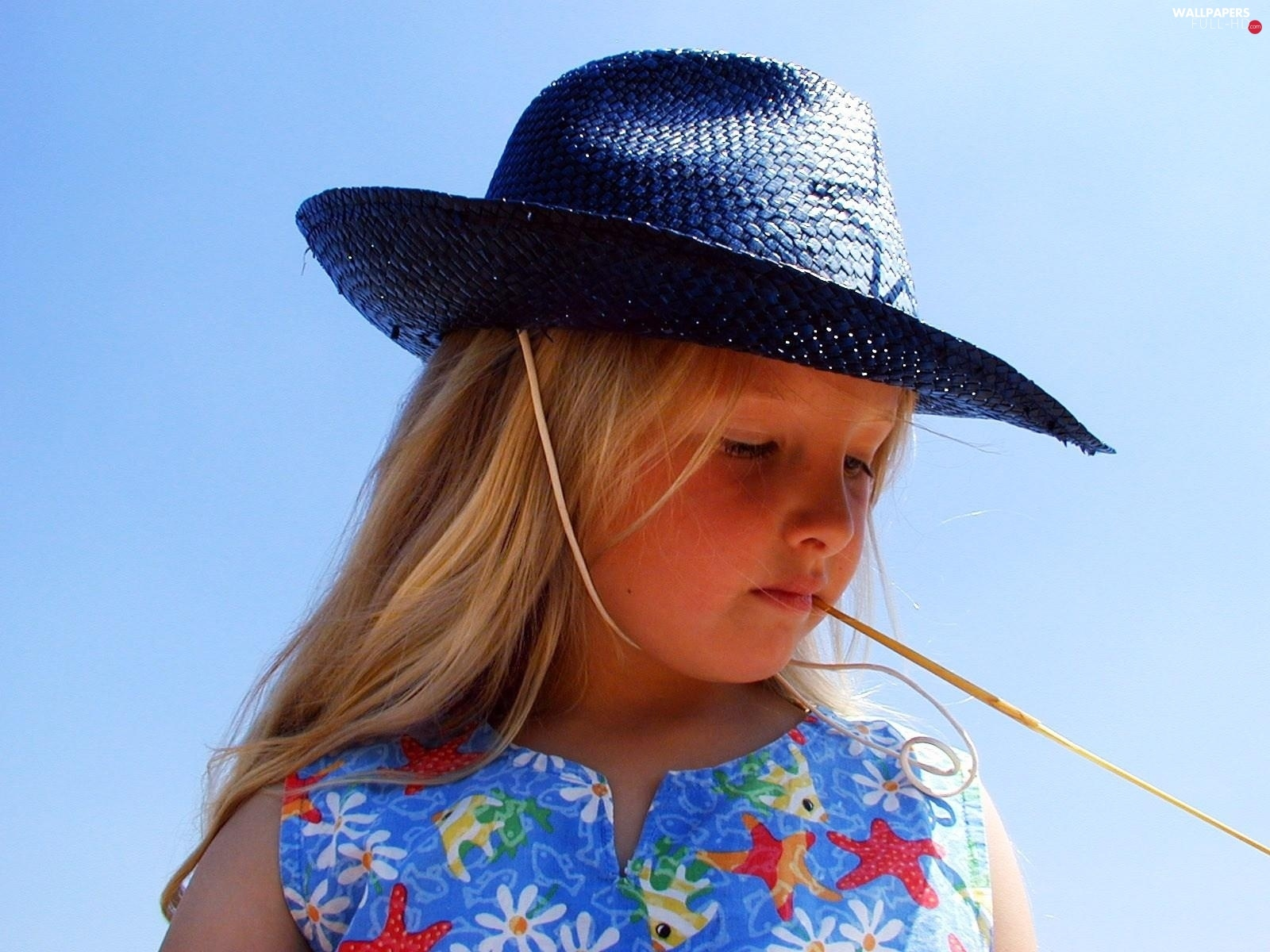 Hat, Straw, girl