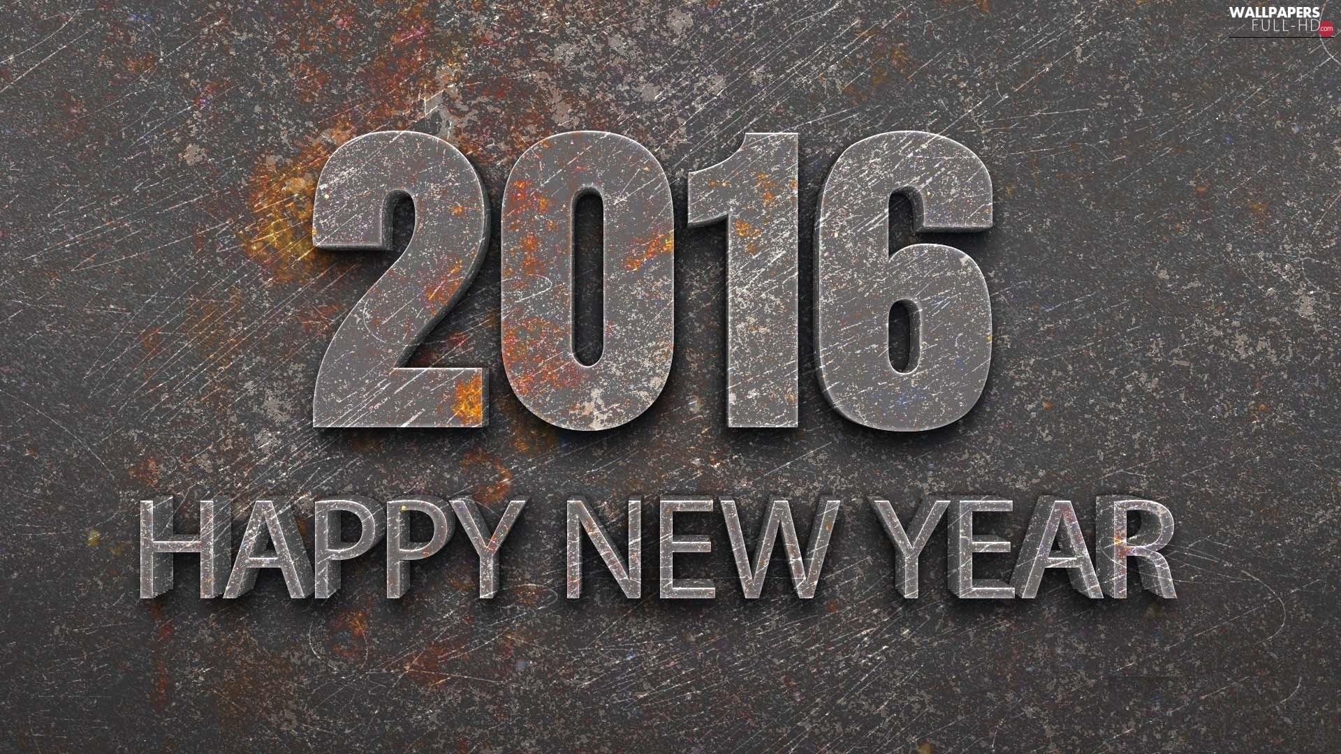 New, text, Year, HAPPY, graphics, 3D, 2016, stone