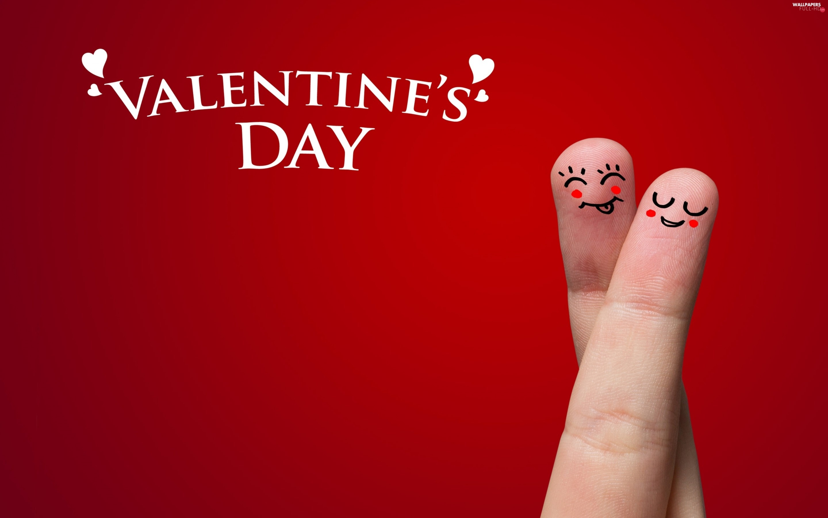 Two cars, finger, Valentine