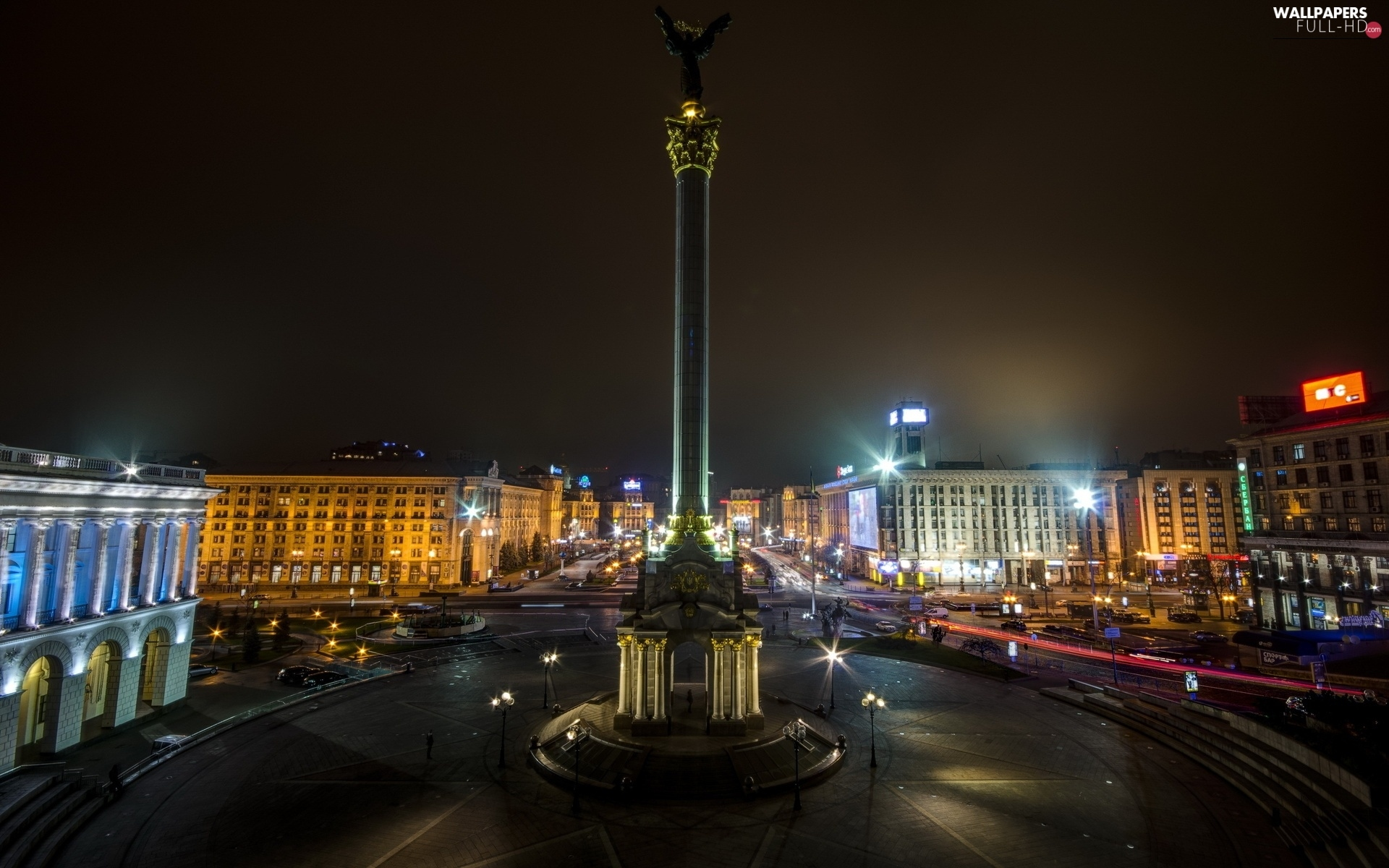 Ukraine, Majdan, Kiev, square, Night, Independence